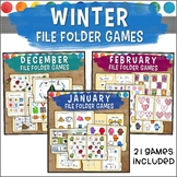 Winter File Folder Game Bundle