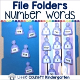 Number Word Match: Winter File Folder Game