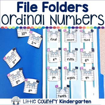 Winter File Folder Game: Number to Ordinal Word Match