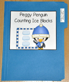 """Winter File Folder Game--""""Peggy Penguin Counting Ice Blocks"""""""
