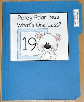 "Winter File Folder Game--""Petey Polar Bear What's One Less?"""