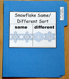 "Winter File Folder Game--""Snowflakes Same and Different Sort"""
