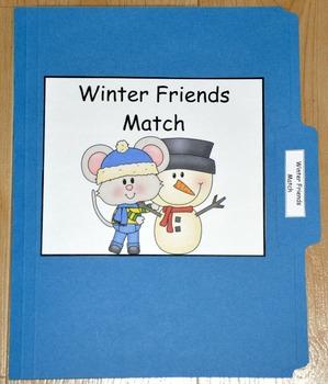 "Winter File Folder Game--""Winter Friends Match"""