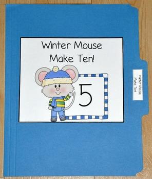 "Winter File Folder Game--""Winter Mouse Make Ten"""