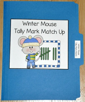 "Winter File Folder Game--""Winter Mouse Tally Mark Number Match"""