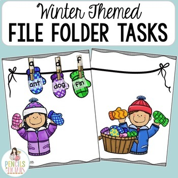 Winter File Folder Games - Morning Work, Center Activities, Small Group & More!