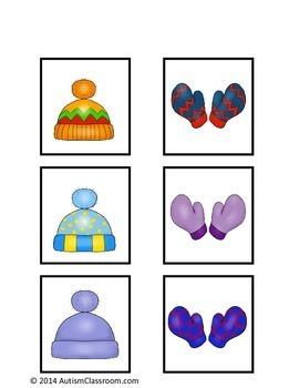Winter File Folder Matching Games