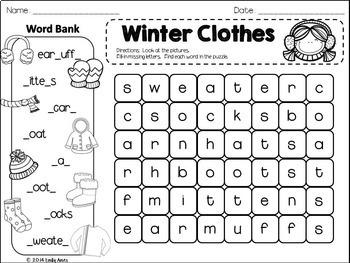 Winter Fill-In & Find Wordsearch PACKET (Christmas, Kwanzaa, Hanukkah, Winter)
