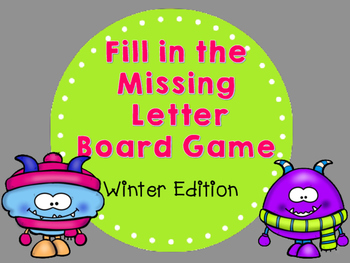 Winter Fill in the Letter Missing Board Game