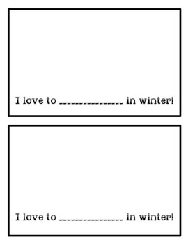 Winter Fill-in-the-blank Books!