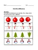 Winter Find the Difference Worksheet Packet
