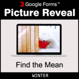 Winter: Find the Mean - Google Forms Math Game | Distance