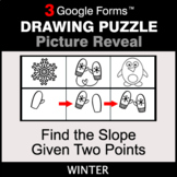 Winter: Find the Slope Given Two Points - Drawing Puzzle  