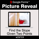 Winter: Find the Slope Given Two Points - Google Forms Mat