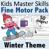 Winter Fine Motor Activities Pack - (With Math and Sight Words)