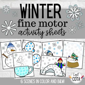 Winter Fine Motor Activity Sheets