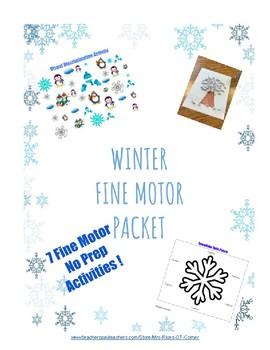 Winter Fine Motor Packet - No Prep!