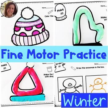 Winter Fine Motor Practice | Special Education Resource