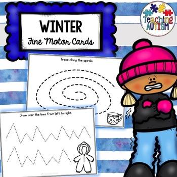 Winter Fine Motor Skills Task Cards