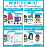Winter Fine Motor Skills and Stem Challenges