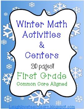Winter First Grade Math Activities and Centers