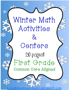 Winter First Grade Math Activities and Centers
