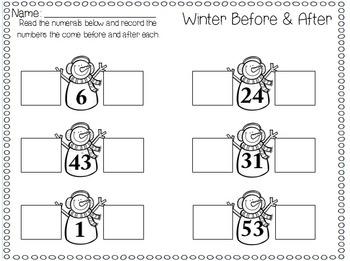Winter First Grade Math Centers (9 Centers)