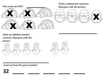 Winter First Grade Math Review