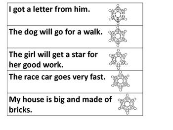 Winter First Grade Sight Word Fluency Strips