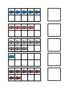 Winter Fish Ten Frames 1-10 File Folder