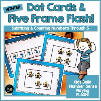 Subitizing: Winter Five Frame & Dot Card Flash!