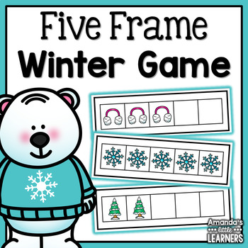 Winter Five Frame Game by Amanda\'s Little Learners | TpT