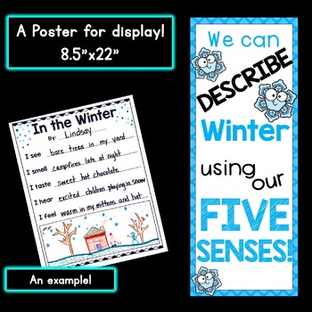 Winter Five Senses Poems and Mini-Book (with poster!)