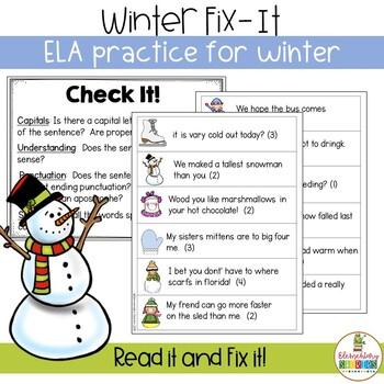Winter Fix It - Editing Practice