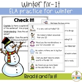 Winter Fix It - Editing Practice
