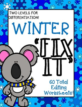 """Winter """"Fix It"""" Editing Work {Two Levels}"""