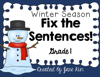 Fix the Sentences-Winter Season