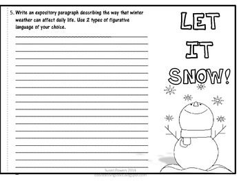 Winter Flip Book Literacy Activity with IB PYP Key Concepts