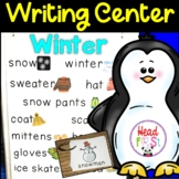 Winter Pictionary Cards - Vocabulary, Writing Center, Writ