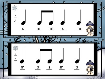 Winter - Flashcards and Composition Activity to Practice So and Mi