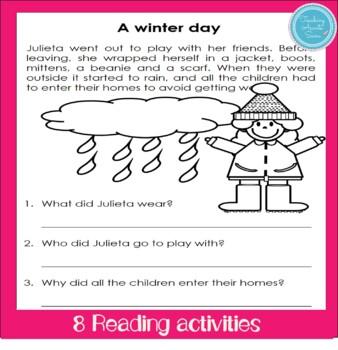 Winter Flashcards and games (para enseñar inglés)