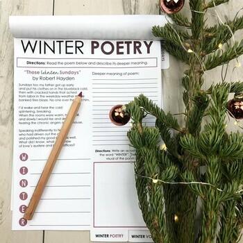 Winter Flipbook: Holiday Activity for Grades 6-12