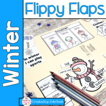 Winter Flippy Flaps Interactive Notebook Lapbook