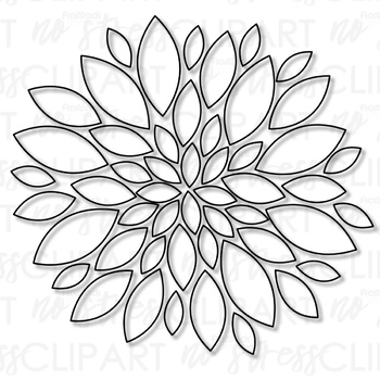 Winter Flowers Clip Art (Digital Use Ok!)