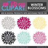 Winter Flowers Clip Art (Digital Use Ok!)