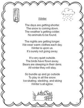 Winter Fluency Activities