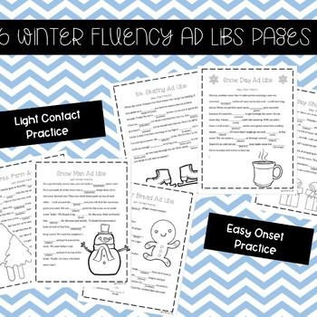 Winter Fluency Enhancing Ad Libs (Stuttering Therapy)
