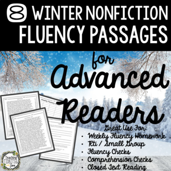 Fluency Passages for Advanced Readers - 8 Winter Themed Nonfiction Passages