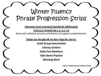 Winter Fluency Phrase Progression Stips