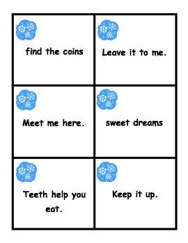 Winter Fluency Phrase Wipe Out